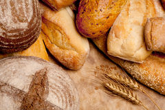 Assortment of baked bread Stock Photo