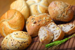 Assortment of baked breads Royalty Free Stock Photo