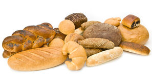 Assortment of baked goods. On white Royalty Free Stock Image