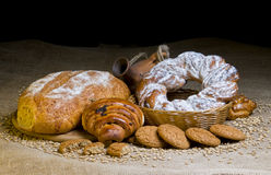 Assortment of baked goods Stock Photo
