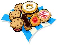 Assortment Of Baked Sweets Stock Photography