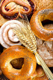 Assortment of bakery fresh breads Royalty Free Stock Images