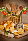 Assortment of bakery products Stock Photography