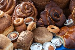 Assortment of bakery products Stock Photo