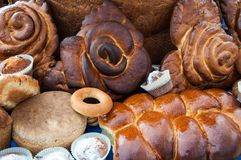 Assortment of bakery products Royalty Free Stock Photo