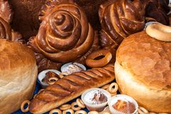 Assortment of bakery products Stock Images