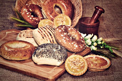 Assortment of bakery products Stock Photos