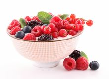Assortment of berries stock photos