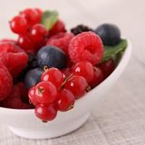 Assortment of berries. Close up on assortment of fresh berries Royalty Free Stock Photography