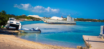 Boat in Turks and Caicos. Assortment of boats in a harbour in Turks and Caicos Stock Image