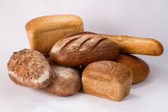 Assortment with bread Stock Photo