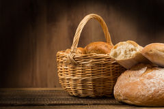 Assortment of bread, baking products Stock Photography