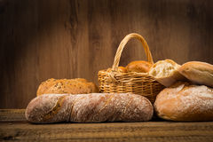 Assortment of bread, baking products Royalty Free Stock Photos