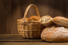 Assortment of bread, baking products Royalty Free Stock Image