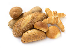 Assortment of bread and loaves Stock Photography