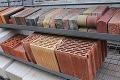 Assortment bricks  in store Royalty Free Stock Photo