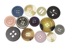 Assortment of Buttons. On Isolated White Background Royalty Free Stock Photos