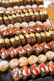 Assortment of cakes and pastries for dessert Royalty Free Stock Photos