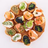 Assortment of canape Royalty Free Stock Photo