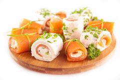 Assortment of canapes Stock Images