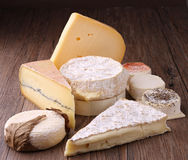Assortment of cheese Stock Photos
