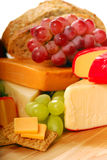 Assortment of cheese and fruit Stock Photography