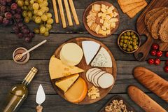 Assortment of cheese types Royalty Free Stock Photography