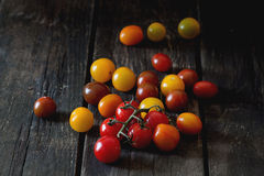 Assortment of cherry tomatoes Royalty Free Stock Images