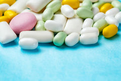 Assortment of chewing gums, mint candies Stock Photos