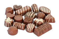 Assortment of chocolate candies, 3D rendering Stock Photography
