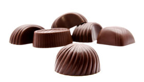 Assortment of chocolate candies isolated Stock Photography