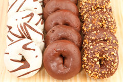 Assortment of Chocolate Donuts Stock Photo