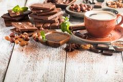 Assortment of chocolate types Stock Image