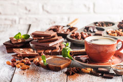 Assortment of chocolate types Stock Photography