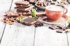 Assortment of chocolate types Stock Photo