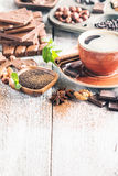 Assortment of chocolate types Royalty Free Stock Photos