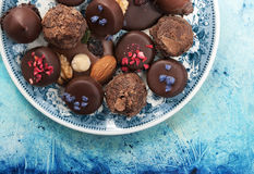 Assortment chocolates Stock Images