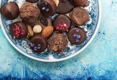 Assortment chocolates Stock Images
