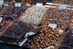 Assortment of chocolates Stock Images