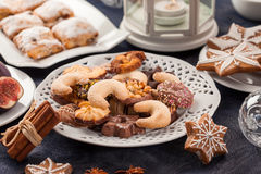 Assortment of Christmas cookies Stock Photography