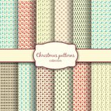 Assortment of Christmas Patterns with Label Stock Photography