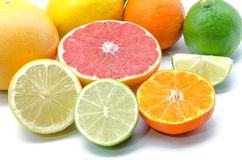 Assortment of citrus Stock Photos