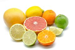 Assortment of citrus Stock Images