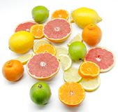 Assortment of citrus Stock Photo