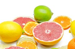 Assortment of citrus Royalty Free Stock Photos
