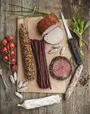 Assortment of cold meats Royalty Free Stock Photo