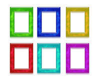 Assortment of Color Frames Stock Images