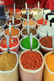 Assortment of color powder spices Royalty Free Stock Images