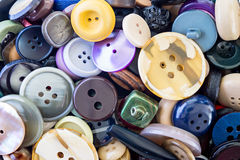 Assortment of colored buttons Royalty Free Stock Image