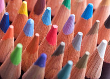Assortment of colored pencils Stock Photos